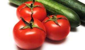 Komkommer tomaten